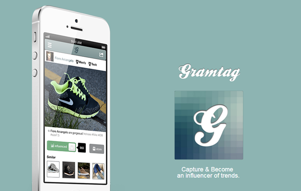 Gramtag ios iphone app website layout