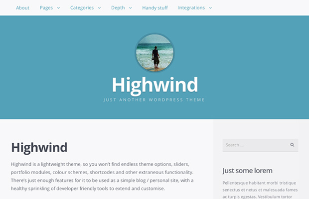 wordpress free theme open source highwind