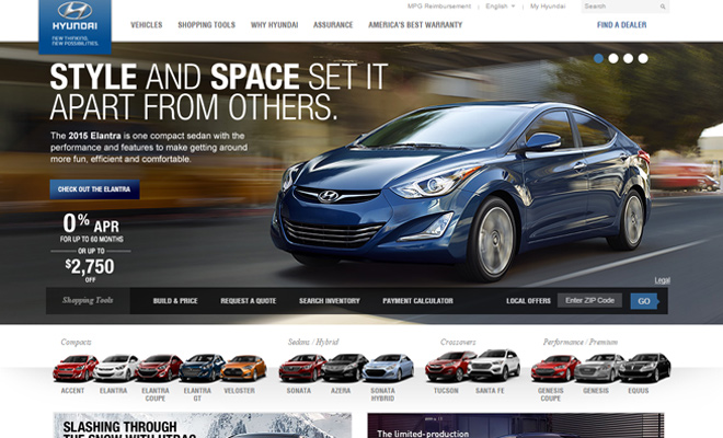 hyundai car company usa website