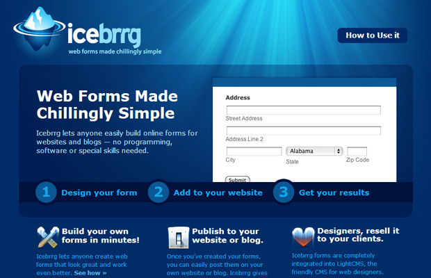 website illustrations blue icebrrg startup