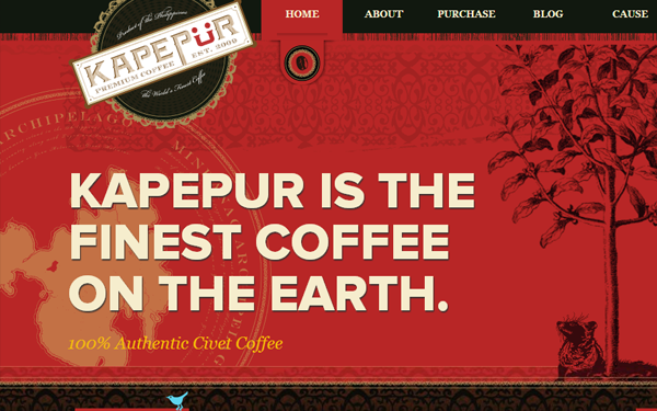 finest coffee website layout inspiration kapepur inspiring