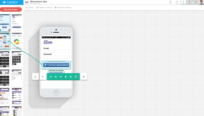android launch prototyping mobile app