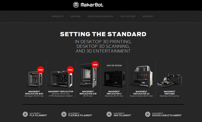 makerbot 3d printers gadget website