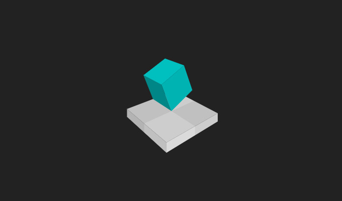 3d cube moving effect animation