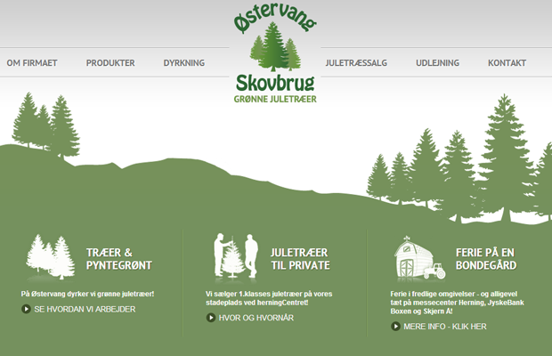 ostervang skovbrug website green layout inspiring