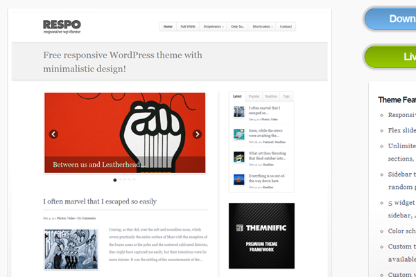 Freebie WordPress open source theme