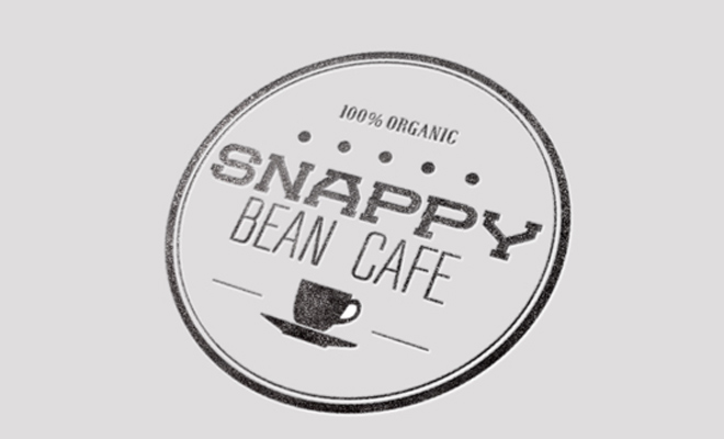the snappy bean cafe logo print branding