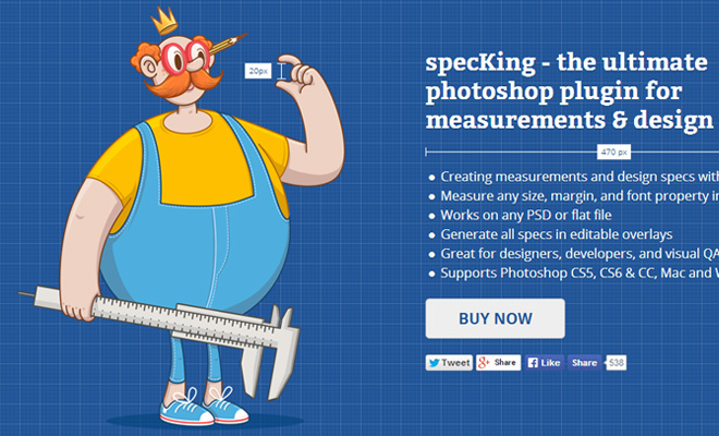 spec king measurement design spec photoshop plugin