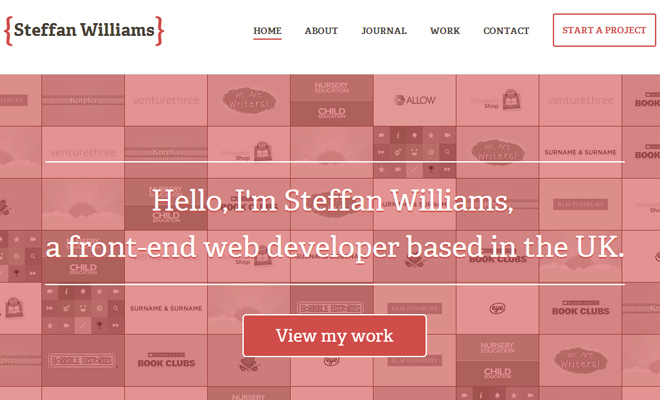 steffan williams portfolio responsive design