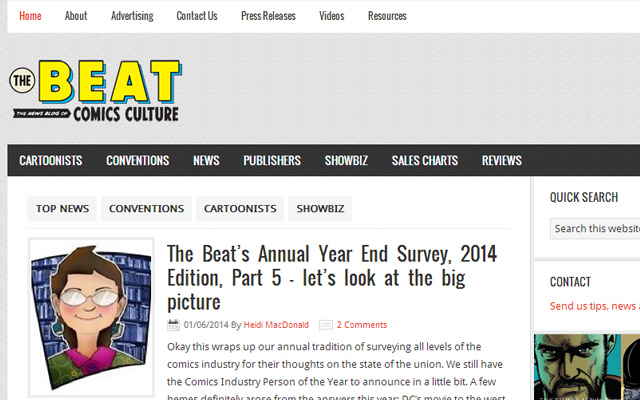 the beat blog magazines news comic book culture