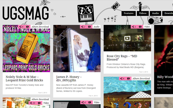 ugs magazine website blog layout interface inspiration