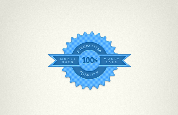 blue psd icon web badge photoshop tutorial