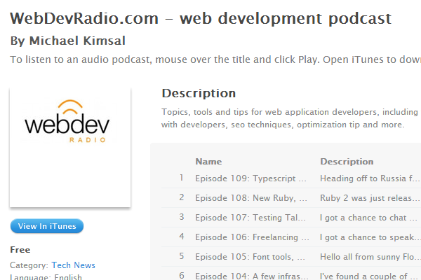 website development tips tricks podcast