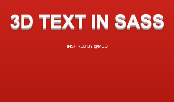 3d text effect sass