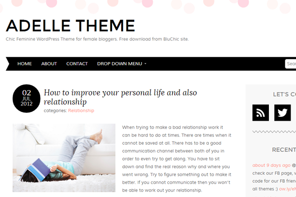 Wordpress Adelle theme template design website