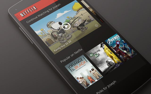 netflix android app ui design homescreen