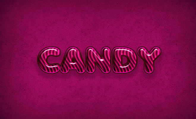 glossy flavorful candy text effect