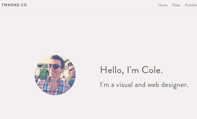 cole townsend portfolio responsive layout inspiration