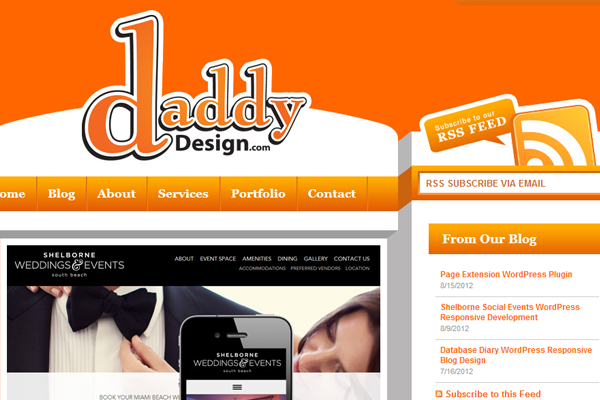 Daddy Website Design Agency WordPress portfolio