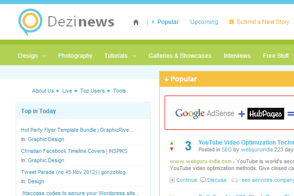 Dezinews user submitted content social articles