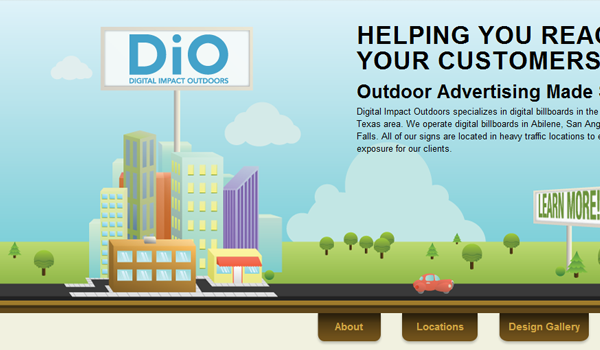Digital Impact outdoors illustration for web