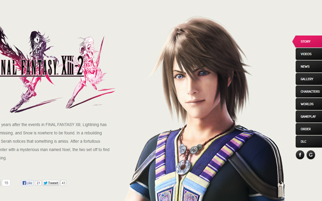final fantasy 13-2 xiii2 website pink design archives square enix