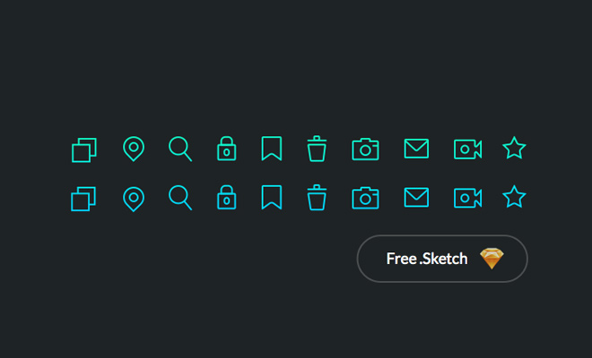 freebie sketch pure iconset thin