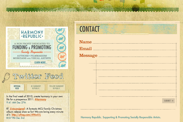 webpage contact form design inspiration agency
