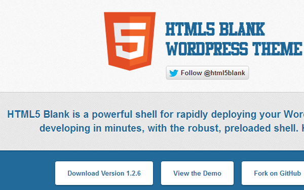 HTML5 Blank for WordPress free theme