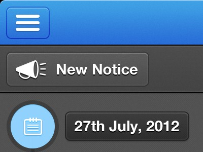 iPad timeline notices design graphics