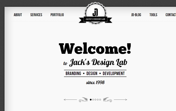 illustration dark website theme portfolio