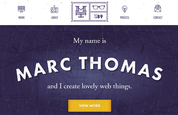 purple background texture marc thomas freelancer website