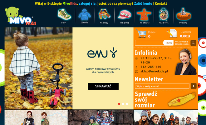 mivo kids dark website childrens graphics