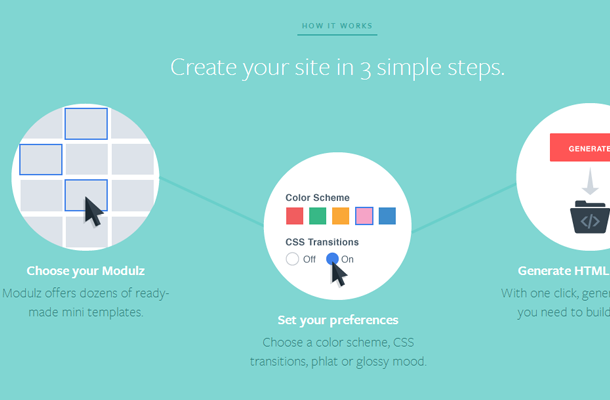 startup modulz homepage signup beta registration
