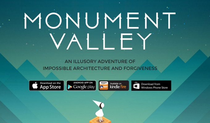 monument valley game landing page