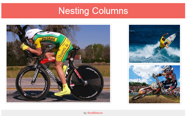 bootstrap nesting images columns open source