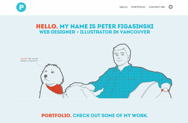peter figasinski portfolio website layout portfolio design