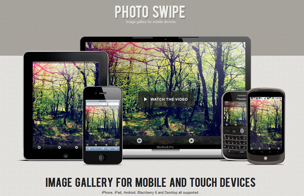 photoswipe javascript image sliding gallery