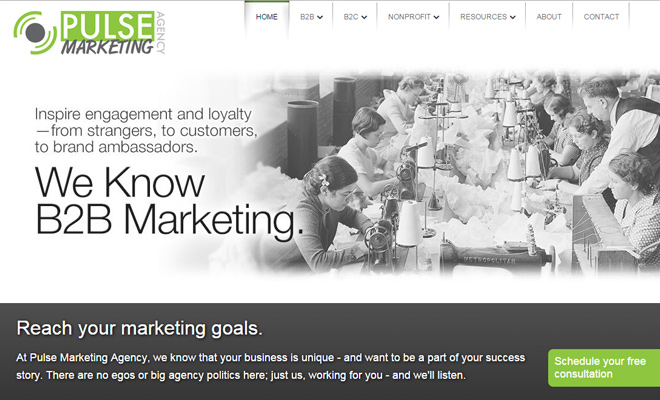 pulse digital marketing agency website