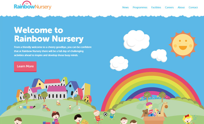 rainbow nursery uk website pastels