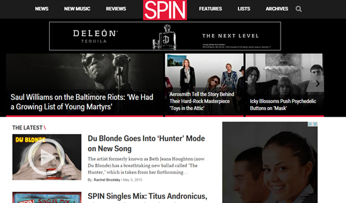 spin magazine news music website