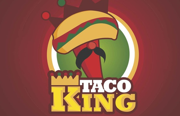 red behance taco king brand logo