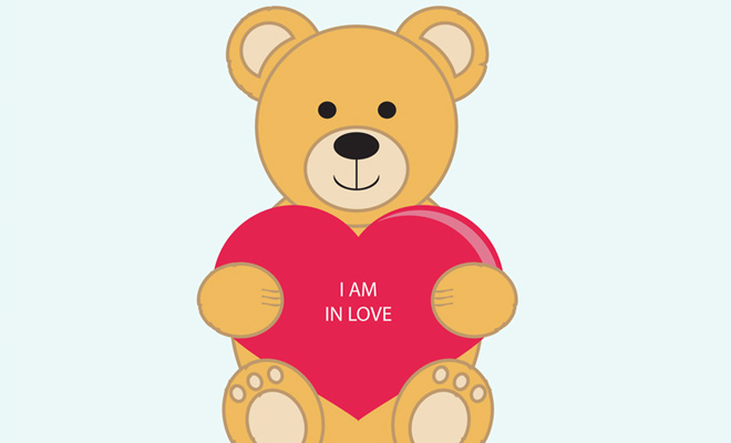 vector teddy bear artwork valentine