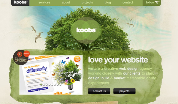 Kooba web design studio website