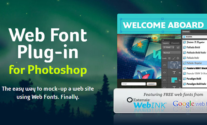 webink web font plugin photoshop