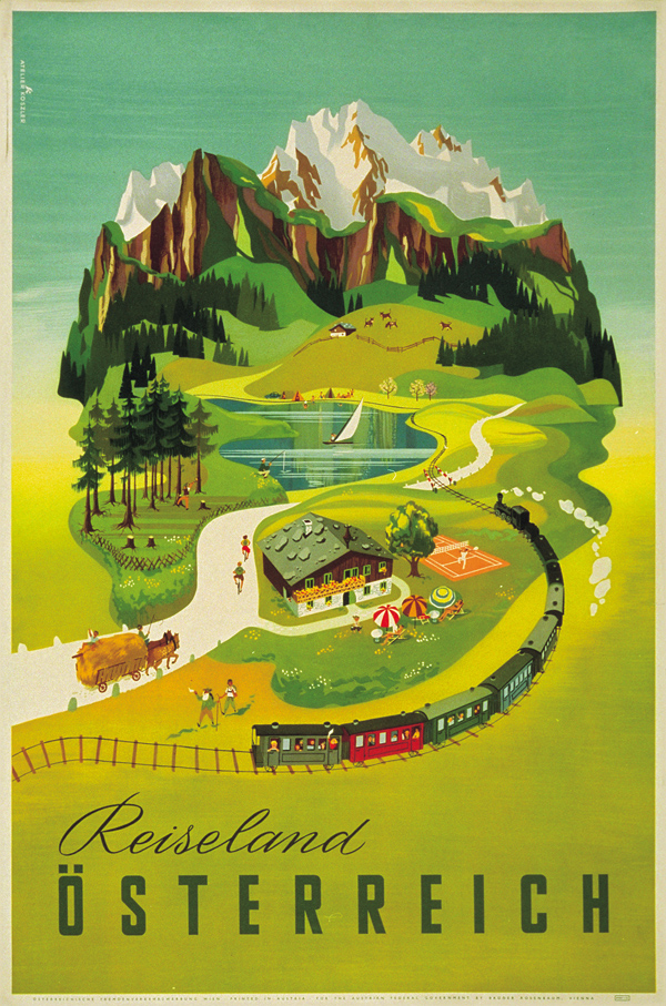 Autumn-colored travel poster