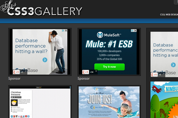 css3 gallery inspiring showcase designs