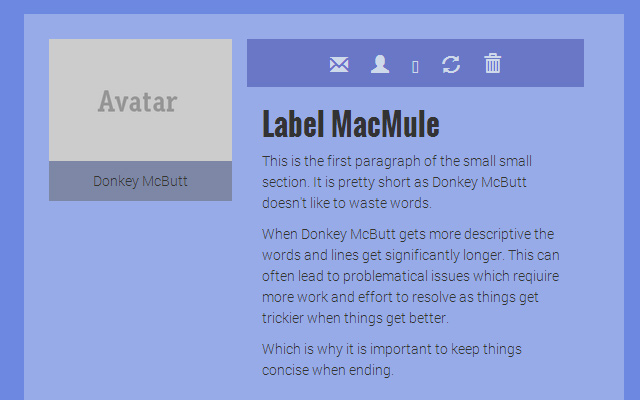 bs3 bootstrap ID personal panel interface