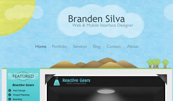 Branden Silva web interface design
