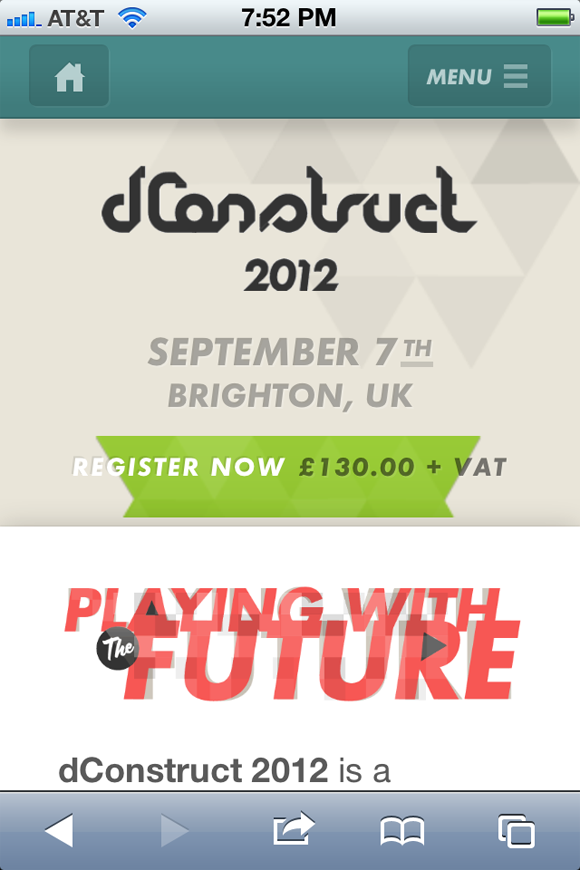 dConstruct conference web design 2012